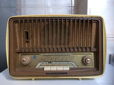Radio D'epoca A Valvole Trans-Continents No Marelli Magnadyne Made In Italy