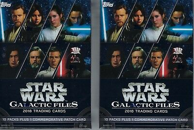 (2) 2018 Topps Star Wars Galactic Files Cards 81ct Blaster Box LOT - Patch Cards