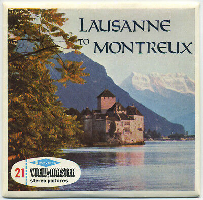 Lausanne to Montreux Switzerland Scarce Sawyer's ViewMaster Packet C-133-E