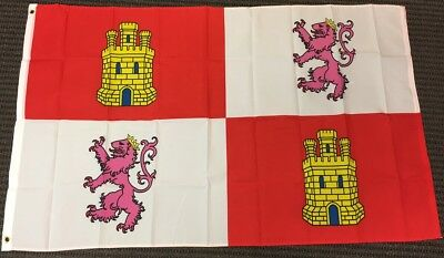 3x5 Castil and Leon Spain Flag Polyester 3x5 Foot Spanish Country Outdoor Banner