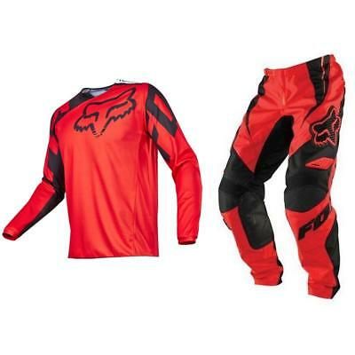 Fox Racing Adult 180 Race Off Road MX Gear Set Black Red Large / 32