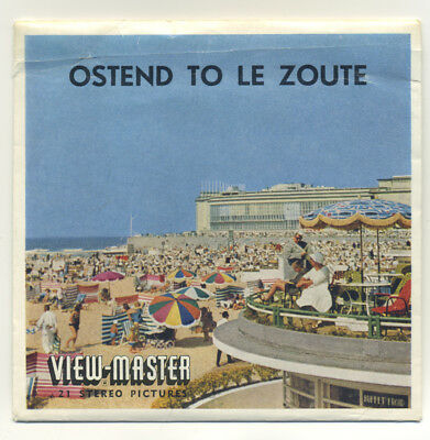 OSTEND to Le ZOUTE Belgium ViewMaster Packet C-360 English edition