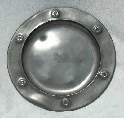 "Liberty Pewter Art Nouveau Plate / Charger By Archibald Knox 9"" 0110 1903 Lot 3"
