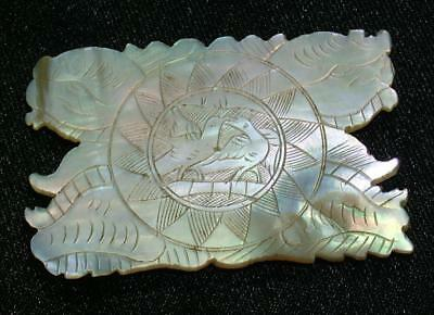 Antique Chinese Mother Of Pearl Sewing Thread Cotton Winder / Gaming Counter