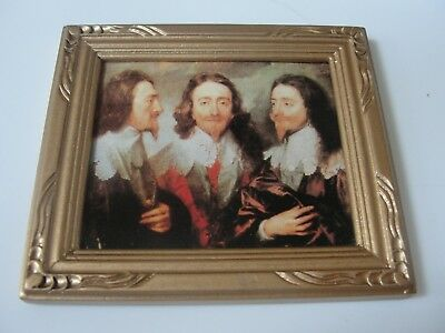 Dollhouse Miniature Gold Framed Print of William Shakespeare