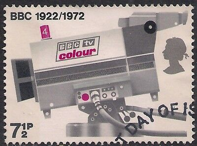 GB 1972 QE2 7 1/2p Broadcasting Anniversaries used stamp SG 911 ( B719 )
