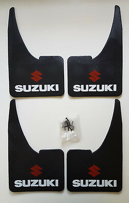 Universal SUZUKI Mudflaps + fittings FULL SET OF 4