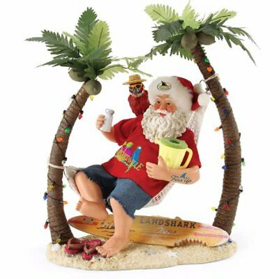 Possible Dreams Wastin Away In Magaritaville Beach Santa Figurine 4057317 New