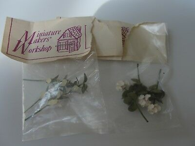 Dollhouse Miniature 2 Packages of Flowers NRFP