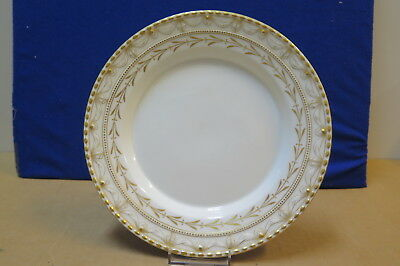 Antique KPM plate, lots of gold, pristine, circa 1900, Orb marking on back