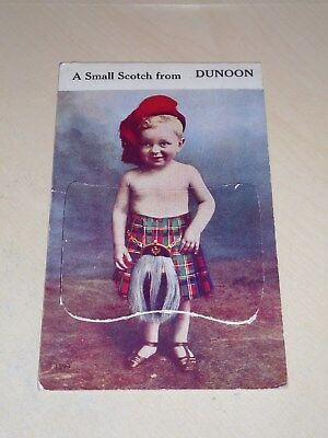 Vintage 1948 Novelty Pull Out Pc - A Small Scotch From Dunoon