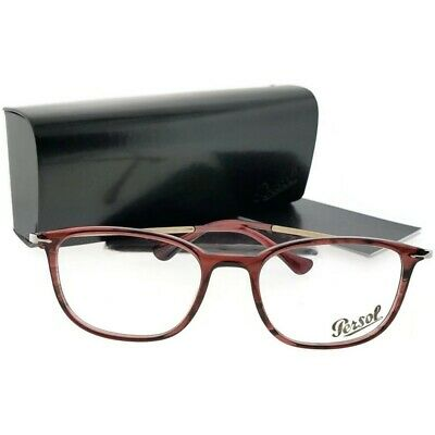 0ce6b892e426e PERSOL EYEGLASSES PO3146V 3146 V 95 Black Silver Full Rim Optical ...