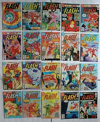 FLASH 1959-1985 DC comics #286-305 Firestorm Shade GA Flash Starlin Perez FN/VF