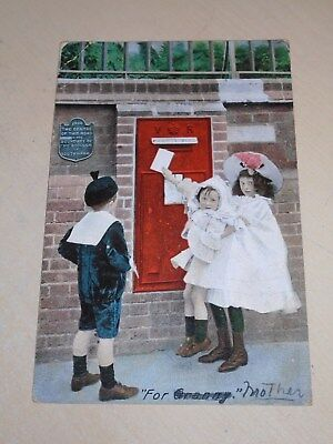 Early 1907 Novelty Postal History Pc - Postbox - For Granny (Mother) - Vgc