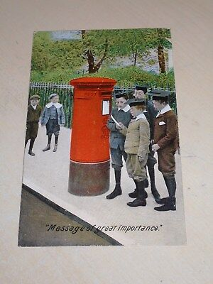 Early 1907 Novelty Postal History Pc - Postbox - Message Of Great Importance