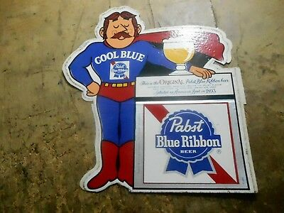 Pabst Blue Ribbon Beer Cool Blue Man Standing Sticker Decal  Brewery