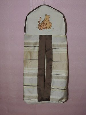Disney Classic Pooh Diaper Stacker Together Time Sateen Cotton Kidsline Brown