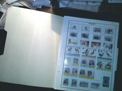 Montserrat Collection On Album Pages, Both Mint An Used