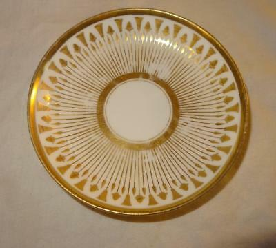 19th Century French Empire Saucer - Vieux Paris by P L DAGOTY & Ed HONORE