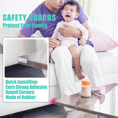 5×Clear Table Desk Corner Protector Edge Guard Cushion Baby Safety Bumper