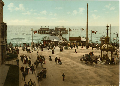 P.Z. Angleterre, Blackpool, The North Pier Vintage photochrome, England photoc