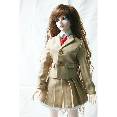 PF 770# Black Rivet Collar Wool Tie Twill Coat 1//4 MSD DOD BJD Dollfie