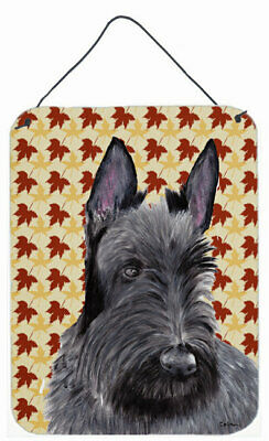 Scottish Terrier Fall Leaves Portrait by Sylvia Corban Painting Print Plaque