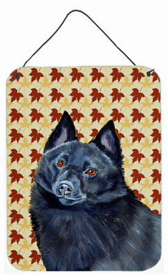 Schipperke Fall Leaves Portrait by Lyn Cook Graphic Art Plaque