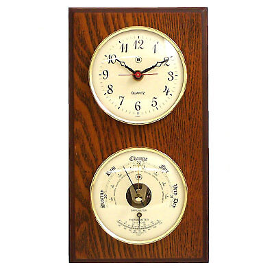 Bey-Berk Wall Clock with Barometer and Thermometer BYB1126