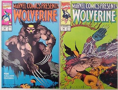 """1991. TWO x Marvel Comics Presents """"WOLVERINE"""". Vol.1. #'s 85 and 86. VF."""