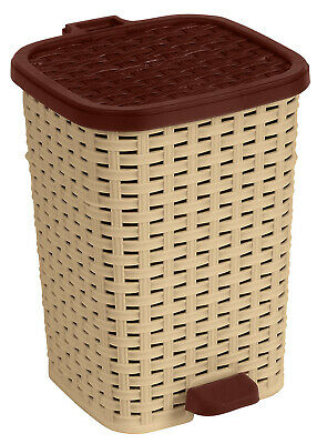 Superior Performance Rattan 1.6 Gallon Step On Trash Can