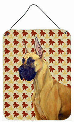 Great Dane Fall Leaves Portrait by Lyn Cook Painting Print Plaque