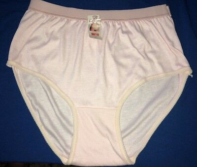 NWT Vintage 90's Beverly Hills 90210 Pastel Pink Cotton Hi Leg Brief Panty sz XL