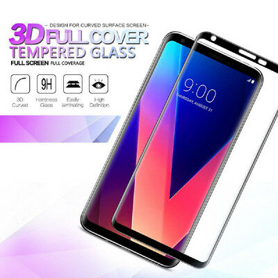 9H Full Cover Screen Protector 3D Curved Tempered Glass Film For LG V30