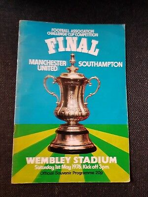 fa cup final 1976.Manchester United v Southampton. Good condition.