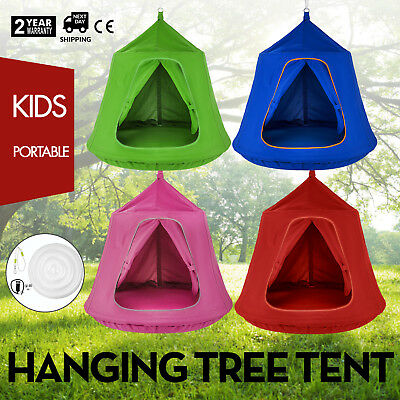 Blue Pink Red Green Hanging Tree Tent Enclosed Safely Family