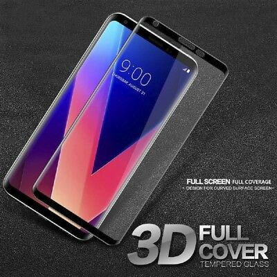 For LG V30 9H 3D Curved Film Full Cover Tempered Glass Screen Protector New