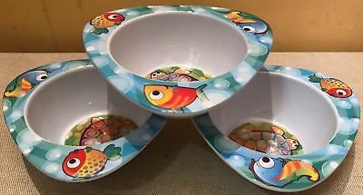 15 Melamine Kids Food Bowls Dish Childrens Fish Feeding Turtle Dinner Joblot New