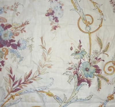 BEAUTIFUL EARLY 19th CENTURY FRENCH ROCOCO BLOCK PRINT COTTON TOILE C.