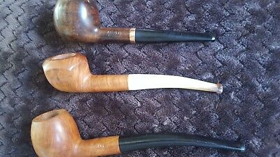 Lot De 3 Pipes En Bois Bruyere Veritable Neuve   Saint-Claude