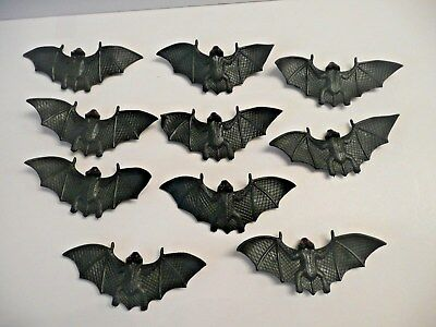 """TEN  4"""" rubber flying bats - with suction cups    NEW"""