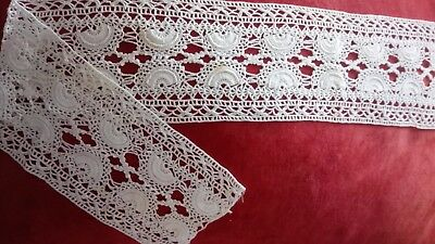 Old Vintage wide cotton lace hand made