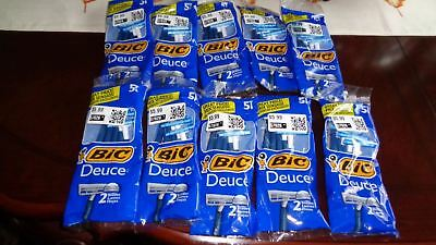 STORE CLOSING! NEW $59 Value ~ BiC Deuce Disposable Razors 5 pack ~ Lot of 10