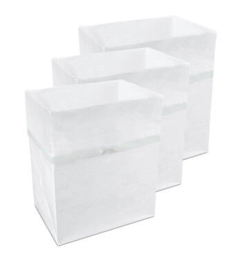 Clean Cubes LLC Bathroom and Car Disposable 4 Gallon Waste Basket Set of 3
