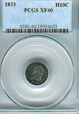 1833 Capped Bust Half Dime : PCGS XF40