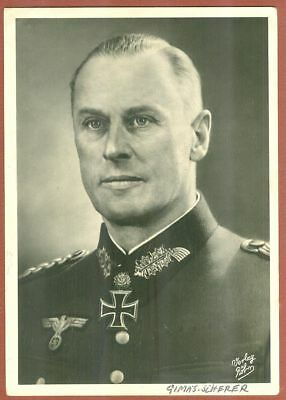 Generalleutnant   Theodore  Scherer  Almost  Like  New  Röhr  Post Card