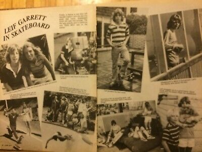 Leif Garrett, Skateboard, Two Page Vintage Clipping