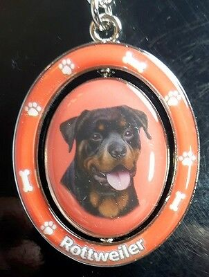 New ROTTWEILER Dog Keychain Spinner Pet Gift FREE SHIPPING