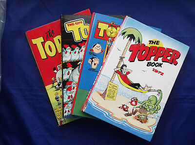 Job Lot Of Four Annuals - The Topper Book 1972, 1973, 1974 & 1975 - D.c. Thomson