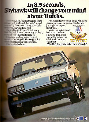 1984 Buick Skyhawk car automobile Retro Print Advertisement Ad Vintage VTG 80s